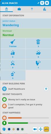 Staff Information window
