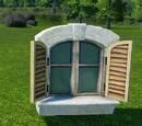 Stucco Window Small Open