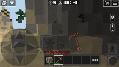 Mining cobblestone