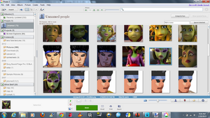 Picasa Planet 51 faces detected