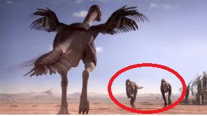 File:Alectrosaurs chased by Gigantoraptor.png