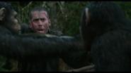 Caesar grabs Carver's shotgun
