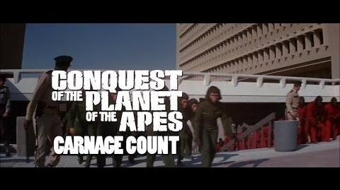 How Many Kills in Conquest of the Planet of the Apes (1972)