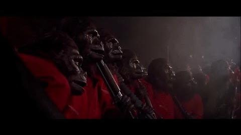 """Conquest of the Planet of the Apes (1972) Caesar's speech """"Where there is fire"""" part 4 5"""