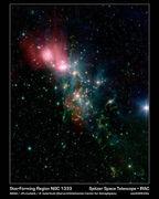 Spitzer, chaotic star birth