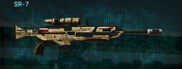 Sandy scrub sniper rifle sr-7