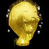 Gold Lion Head Hood Ornament