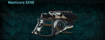 Forest greyscale pistol manticore sx40