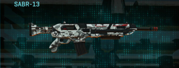 Forest greyscale assault rifle sabr-13