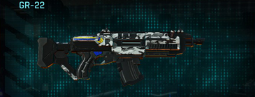 Forest greyscale assault rifle gr-22