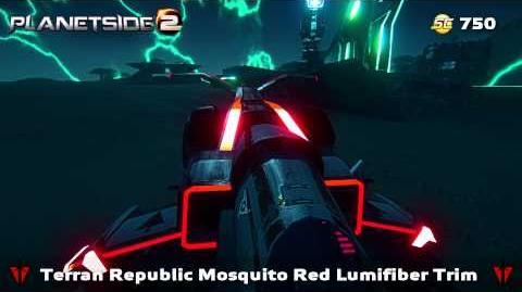 PlanetSide 2 - Mosquito Red Lumifiber Trim