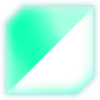 Scythe Glowing Teal Glass Decal