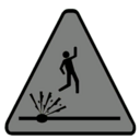 Caution Explosives Decal