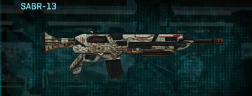 Arid forest assault rifle sabr-13