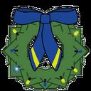 Wreath Decal NC