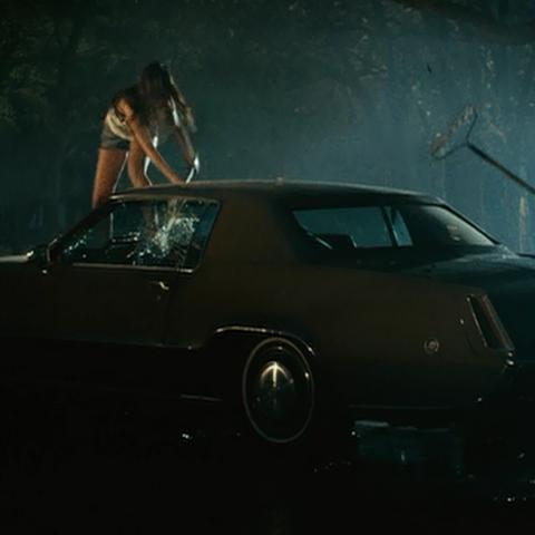 The Crazy Babysitter Twins attack Dakota's car.