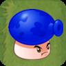 Blue Mushroom Grass