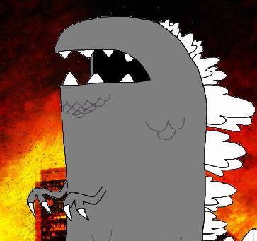 Chomperzilla destroy city
