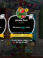 Jumping Bean Conjured by Cosmic Bean