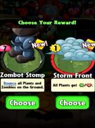 Choice between Zombot Stomp and Storm Fromt