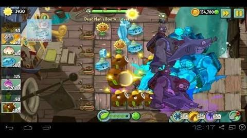 Dead Man's Booty Level 071 battle of Hypno Shroom Plants vs Zombies 2
