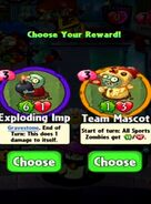 Choice between Exploding Imp and Team Mascot