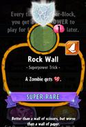 Rock Wall statistics