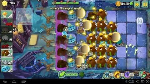 Arthur's Challenge Level 81 to 85 Plants vs Zombies 2 Dark Ages