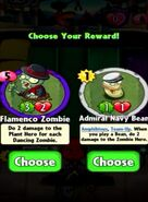 Choice between Flamenco Zombie and Admiral Navy Bean