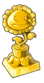 Gold Sunflower Trophy
