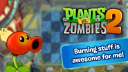 PvZ2Custom FlamingPeaBurningawesome WallpaperbyKh07