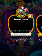 Baseball Zombie Conjured by Cosmic Sports Star