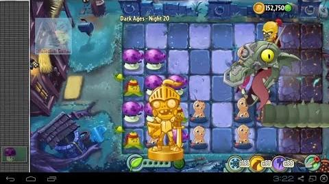 Dark Ages Night 20 Zomboss Dark Dragon Plants vs Zombies 2 Dark Ages Part 2