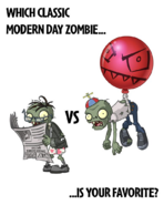Balloon Zombie vs. Newspaper Zombie