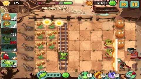 Plants vs Zombies 2 Wild West Day 5 Walkthrough