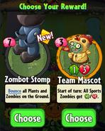 Zombot Stomp and Team Mascot