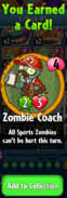 Earning Zombie Coach