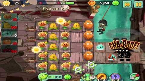 Plants vs Zombies 2 Pirate Seas Day 5 Walkthrough