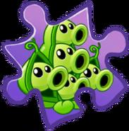 Pea Pod Puzzle Piece