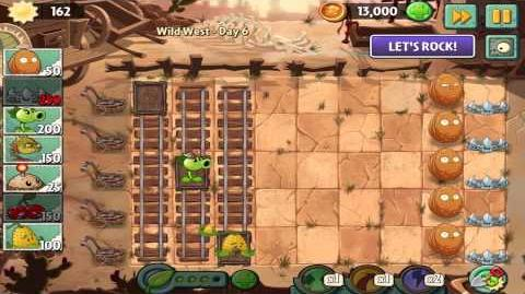 Plants vs Zombies 2 Wild West Day 6 Walkthrough