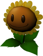 3D Sunflower Model (PvZ Magic Book)