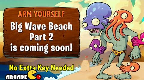 Plants Vs Zombies 2 Big Wave Beach IS HERE Plant Banana Launcher Vs Wizard Zombie-1413477384