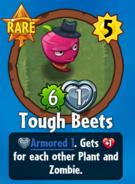 Receiving Tough Beets