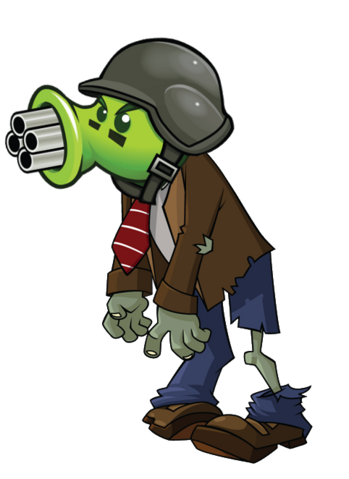 File:HD Gatling Pea Zombie.png