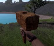 Wood hammer in game