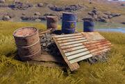 Junk Pile barrels