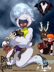 Beach Ghouls - Christmas in July - Beach Wrestling Yeti
