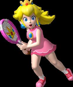 Princess Peach Artwork - Mario Tennis Open