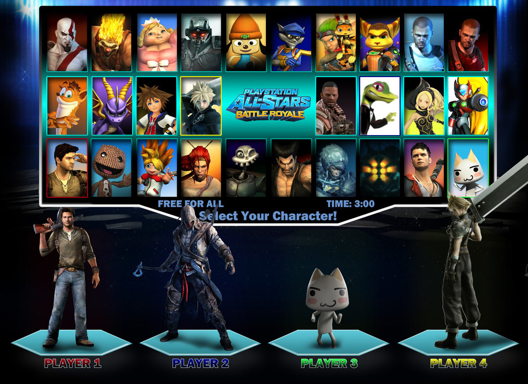 Playstation All Stars Wiki: Playstation All Stars Battle Royale Roster 3 By