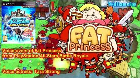PlayStation All Stars Battle Royale Fat Princess Voice Over
